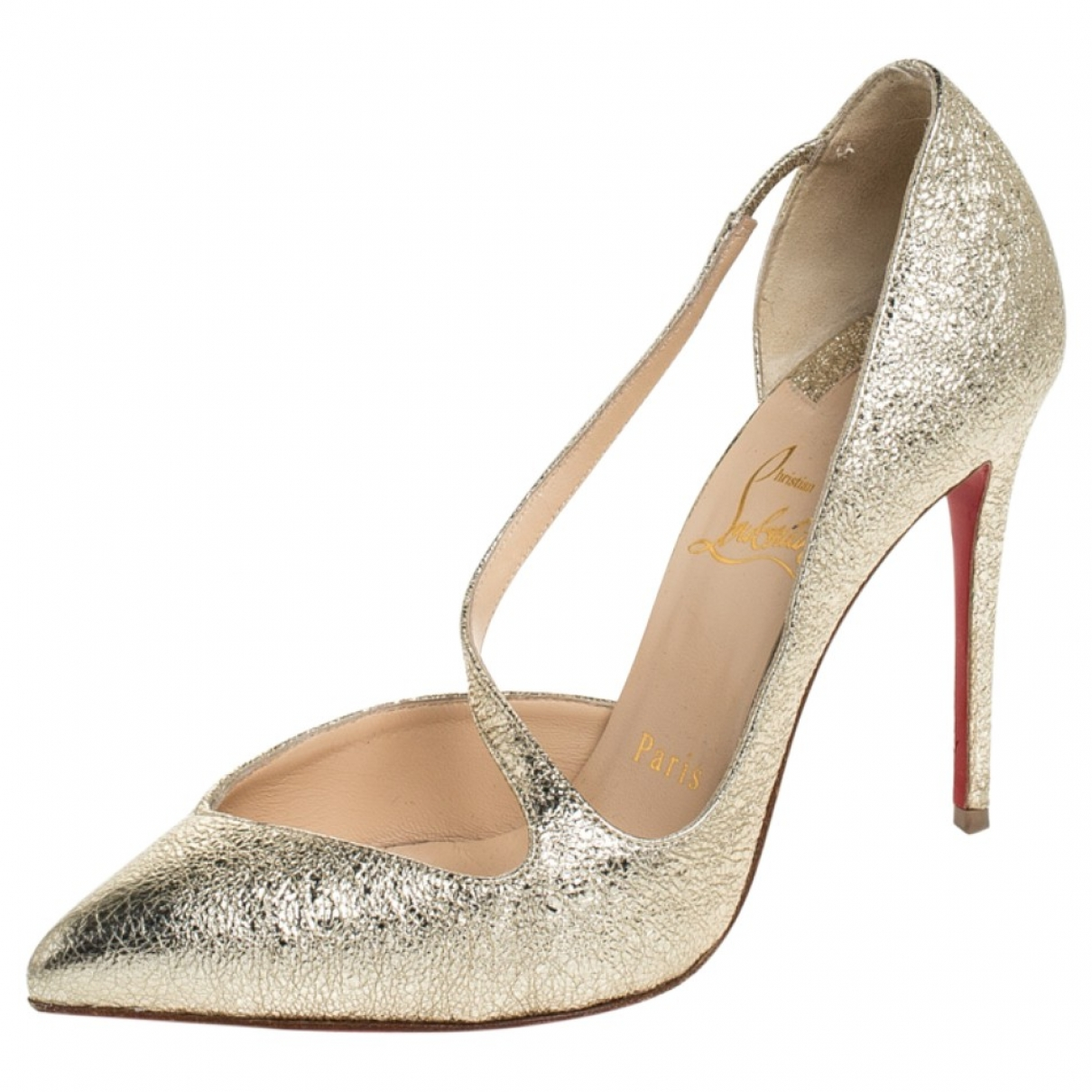 Christian Louboutin \N Gold Leather Heels for Women 5 US