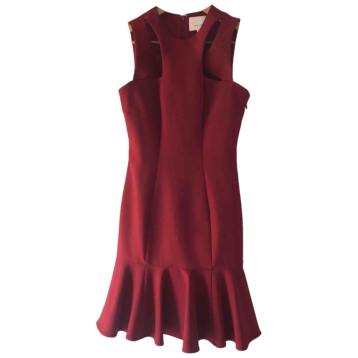 Cinq A Sept \N Kleid in  Bordeauxrot Polyester