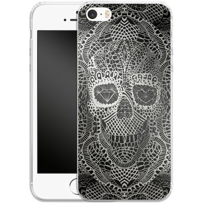 Apple iPhone 5s Silikon Handyhuelle - Lace Skull von Ali Gulec