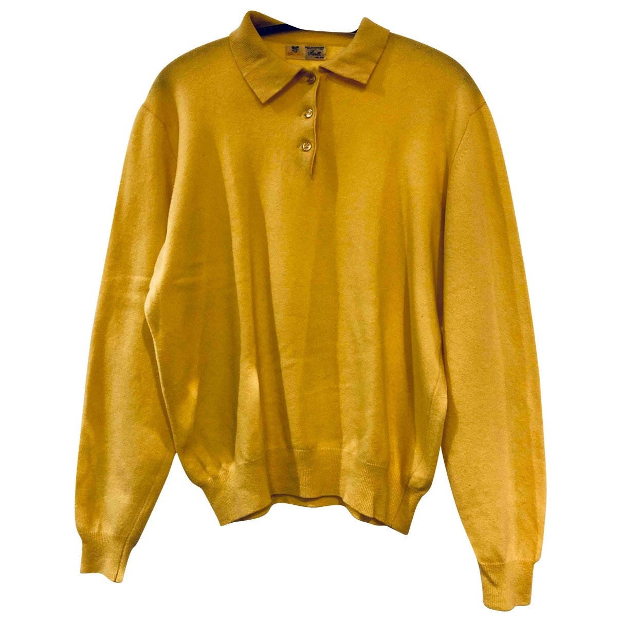 Non Signé / Unsigned \N Yellow Wool  top for Women L International