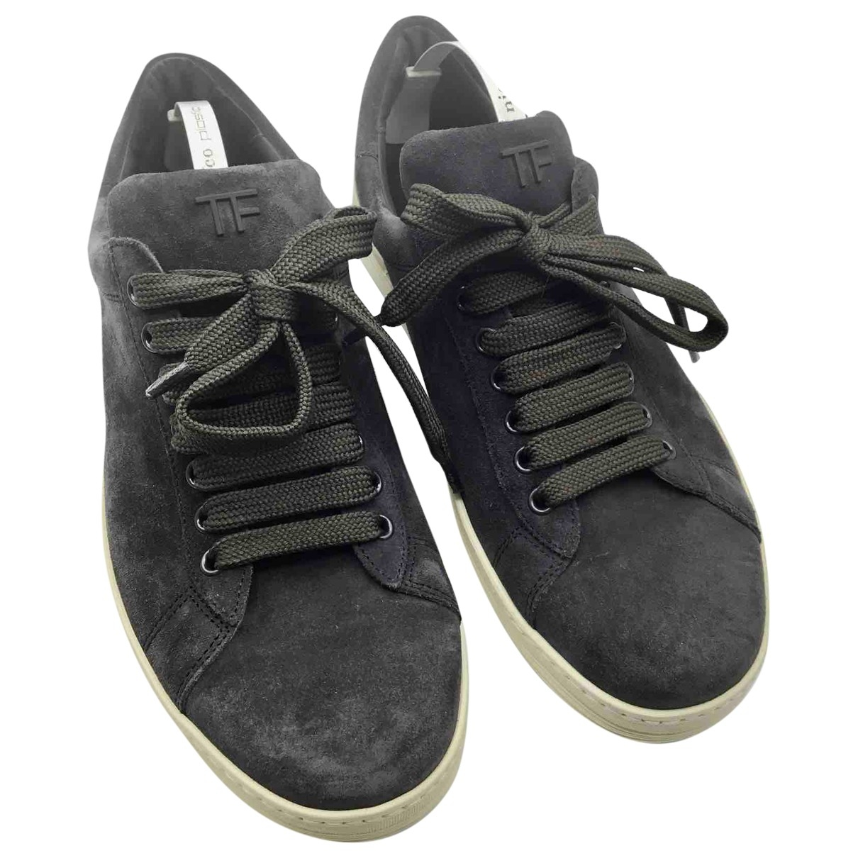 Tom Ford \N Blue Suede Trainers for Men 6.5 US