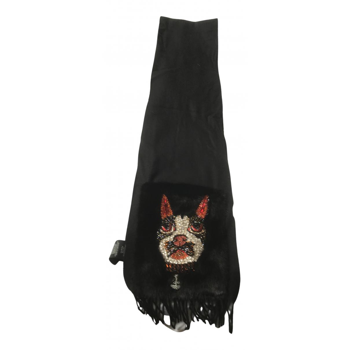 Gucci - Foulard   pour femme en cachemire - noir