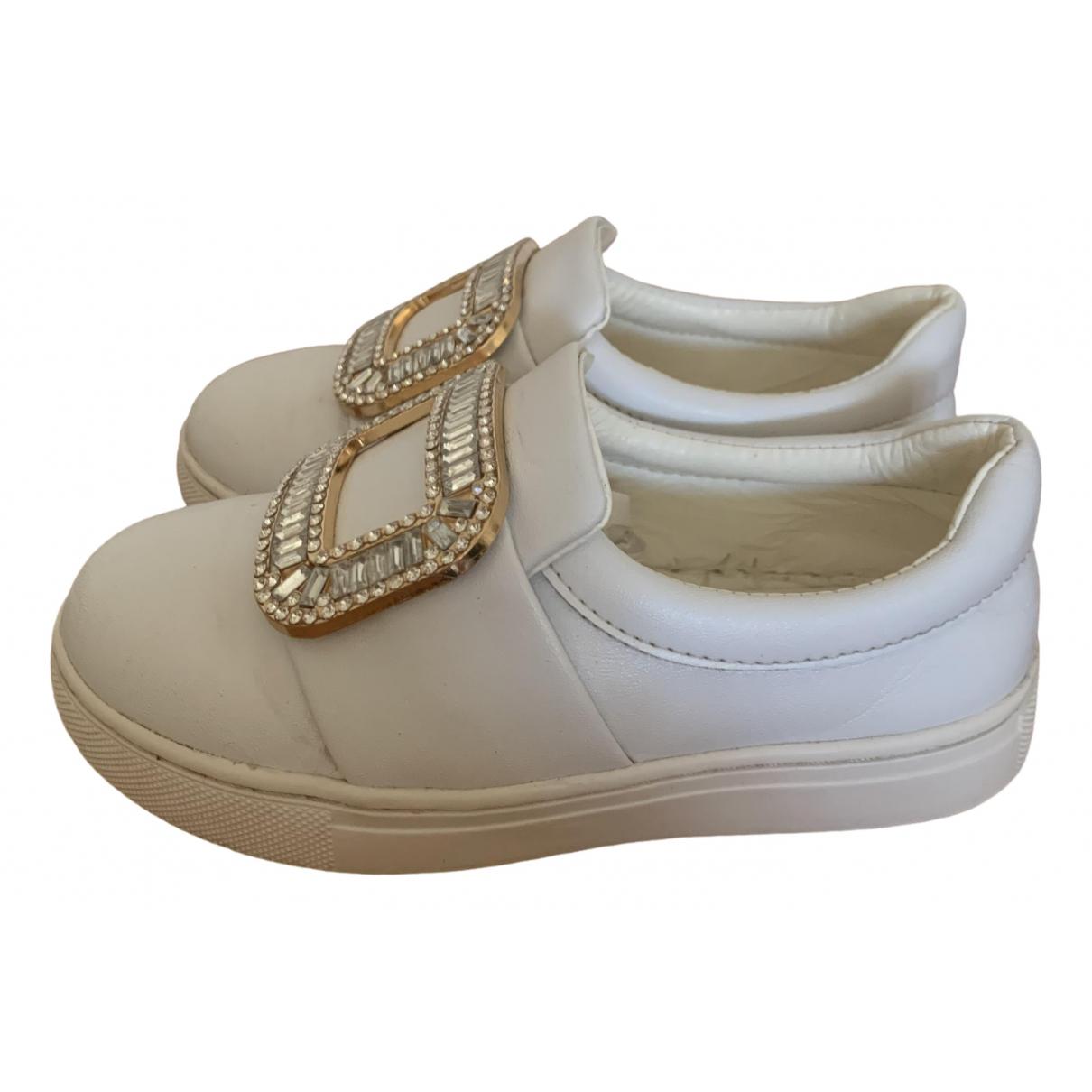 Roger Vivier \N Sneakers in  Weiss Leder