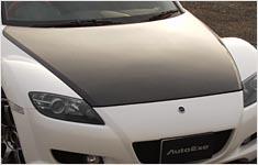 AutoExe Bonnet 01 - Carbon - Mazda 04-11