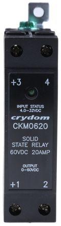 Sensata / Crydom 20 A Solid State Relay, DIN Rail, 60 V Maximum Load