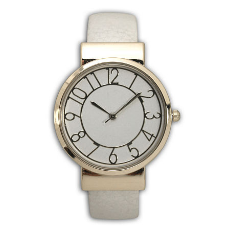 Adjustable Analog Gold Tone Womens Watch, One Size , No Color Family