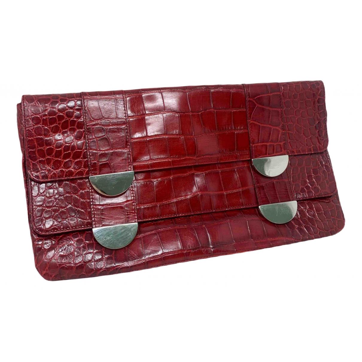 Furla \N Clutch in  Rot Leder