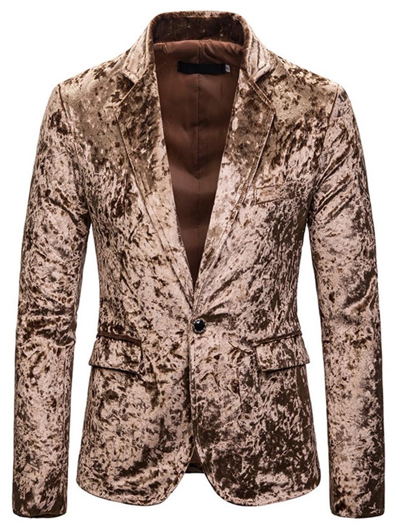 Ericdress Color Block Button Casual Men's leisure Blazers