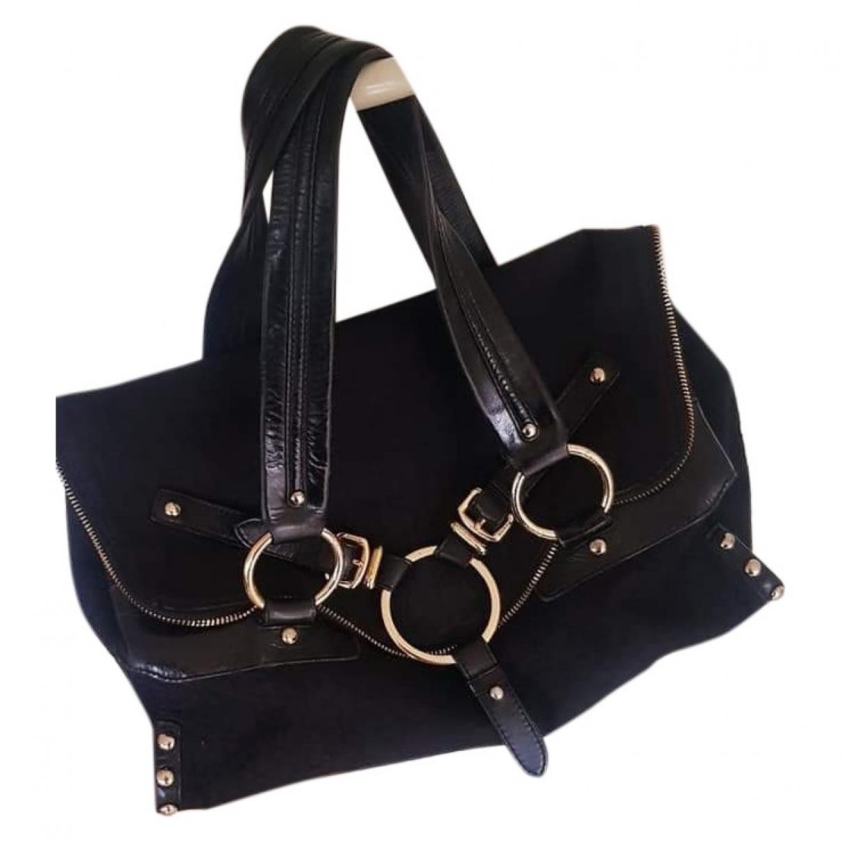 Dkny \N Handtasche in  Schwarz Baumwolle