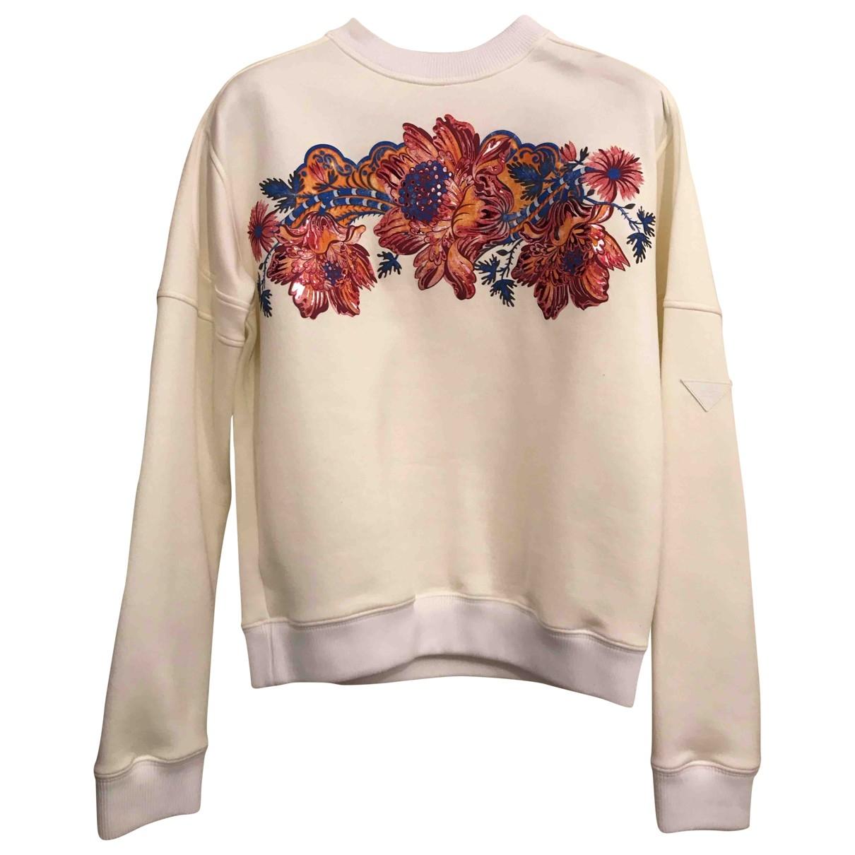 Louis Vuitton - Pull   pour femme en coton - ecru