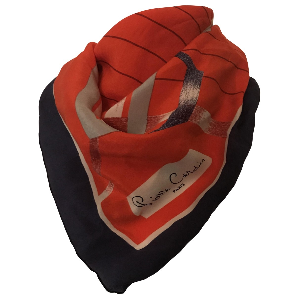 Pierre Cardin \N Red Silk Silk handkerchief for Women \N