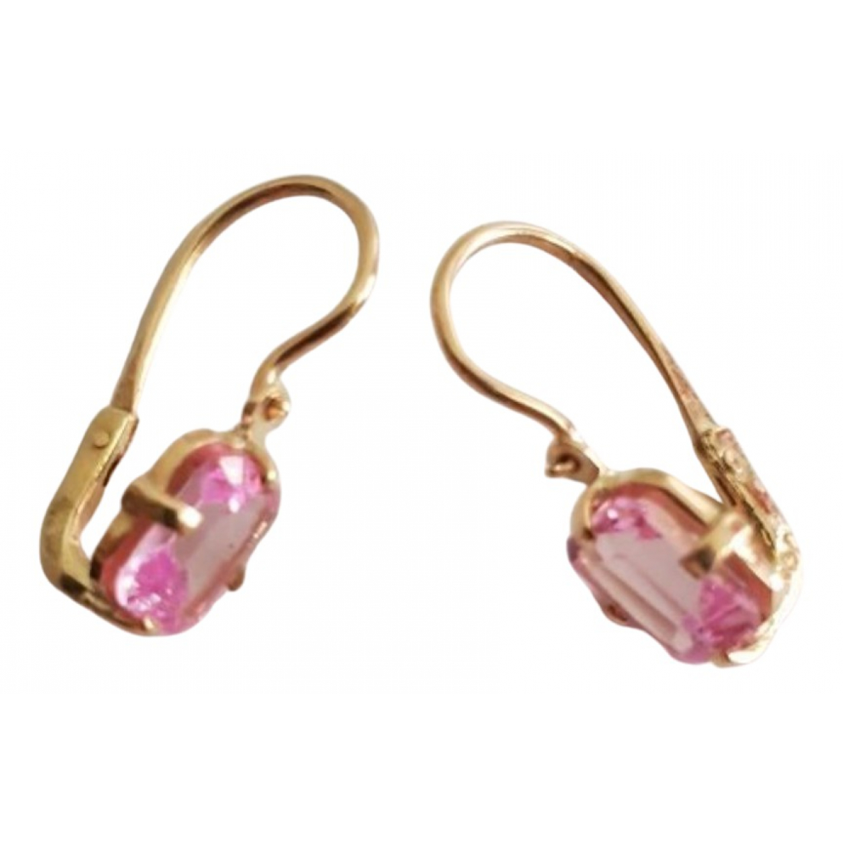 Non Signe / Unsigned Saphir OhrRing in  Rosa Gelbgold