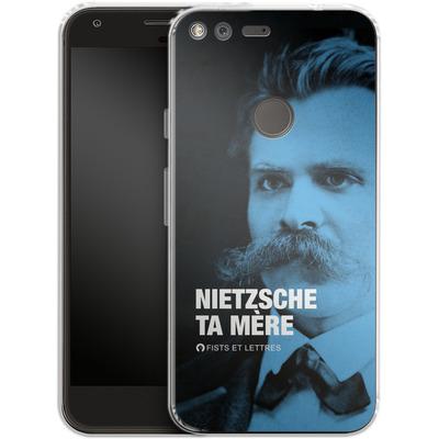 Google Pixel Silikon Handyhuelle - Nietzsche Ta Mere von Fists Et Lettres