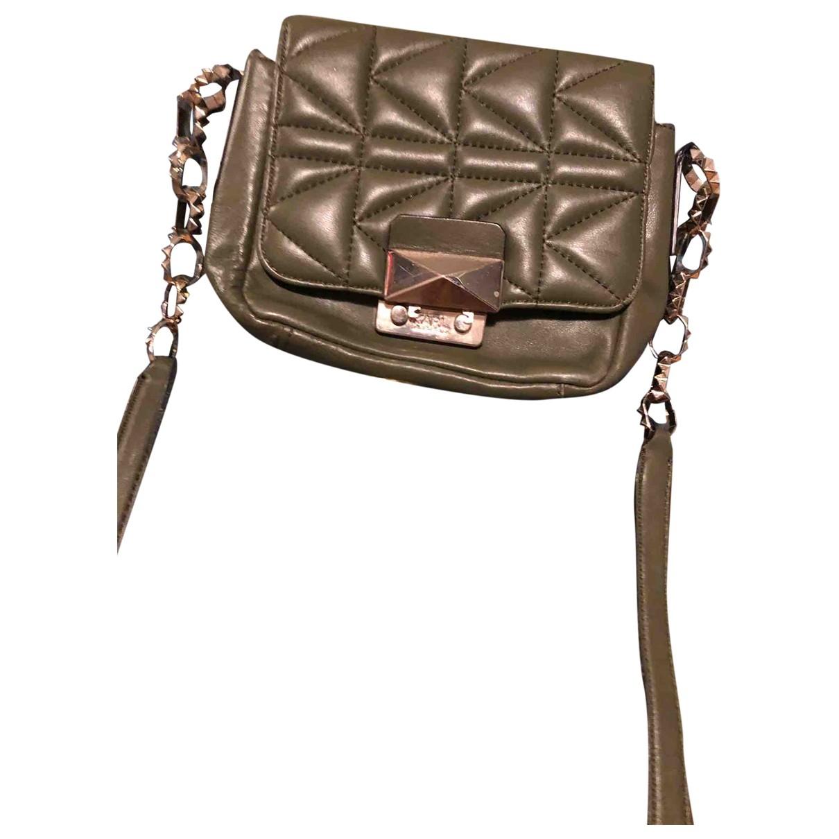Karl Lagerfeld \N Khaki Leather handbag for Women \N