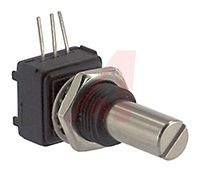 Vishay 1 Gang Rotary Conductive Plastic Potentiometer with an 6.35 mm Dia. Shaft - 10kΩ, ±20%, 0.5W Power Rating, Linear