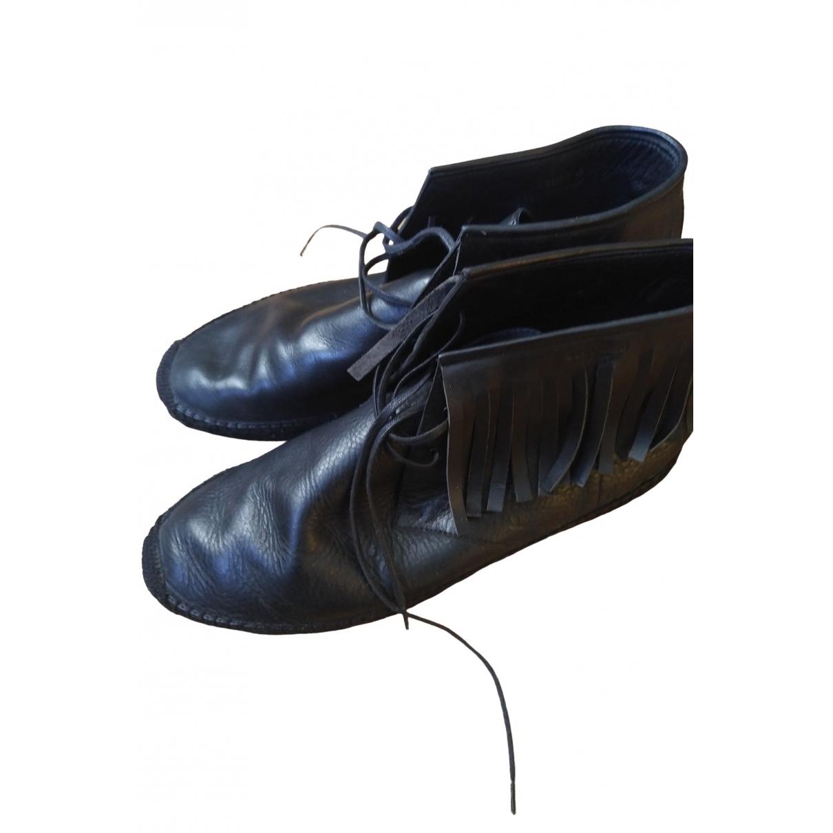 Saint Laurent \N Black Leather Espadrilles for Men 45 EU