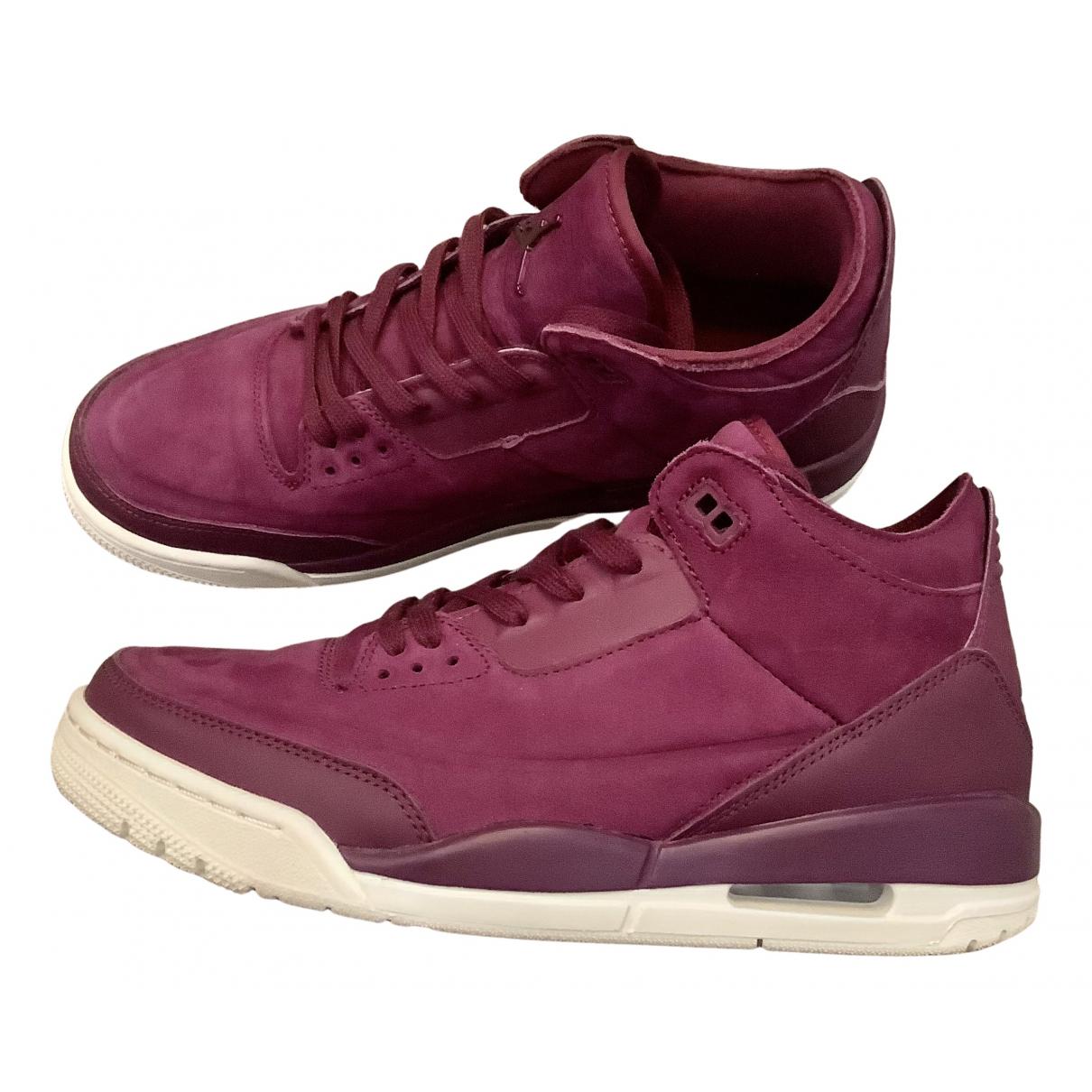 Jordan Air Jordan 3 Sneakers in  Lila Veloursleder