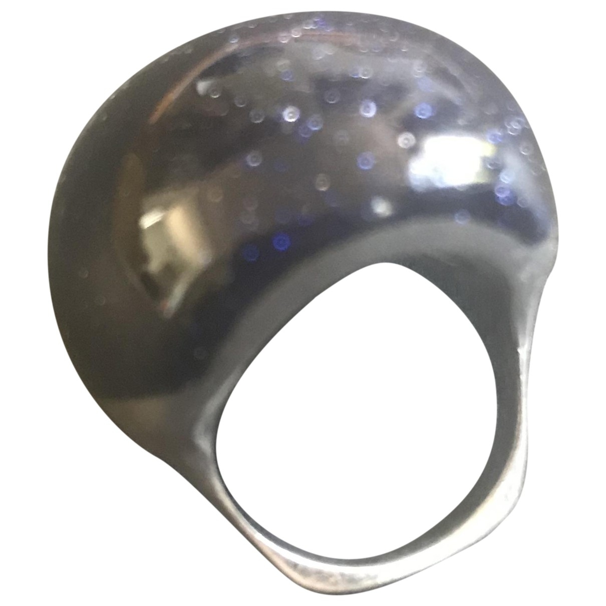 Non Signe / Unsigned \N Ring in  Blau Silber