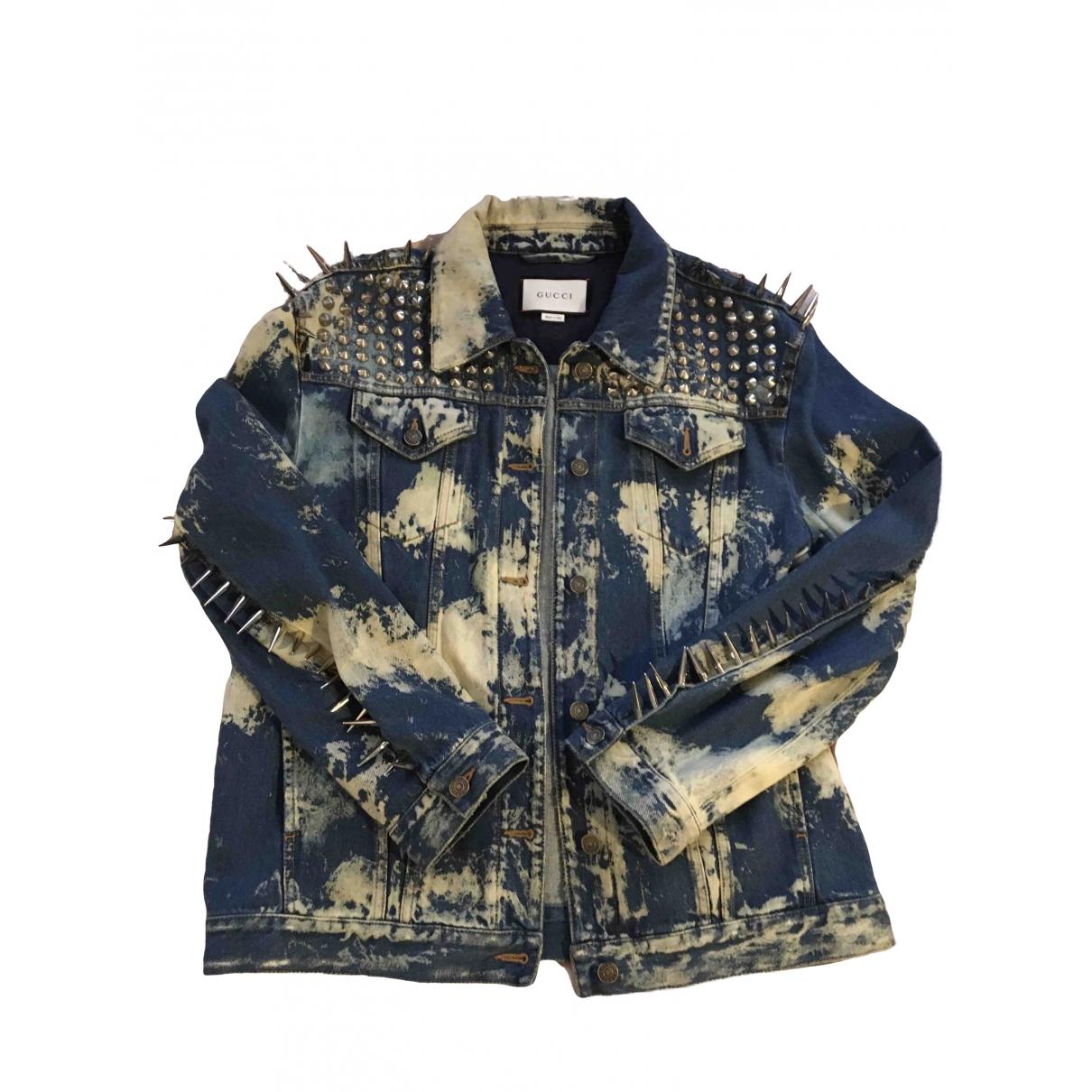 Gucci \N Jacke in  Blau Denim - Jeans