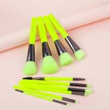 10 Stuecke Flach Make-up Pinsel Set