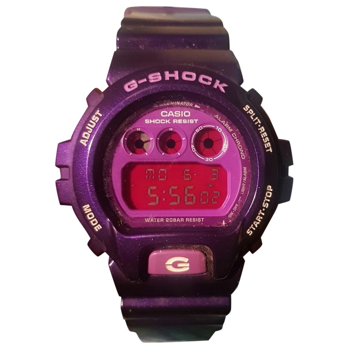 G-shock - Montre   pour homme en caoutchouc - violet