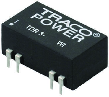 TRACOPOWER TDR 3WI 3W Isolated DC-DC Converter Through Hole, Voltage in 9 → 36 V dc, Voltage out ±15V dc