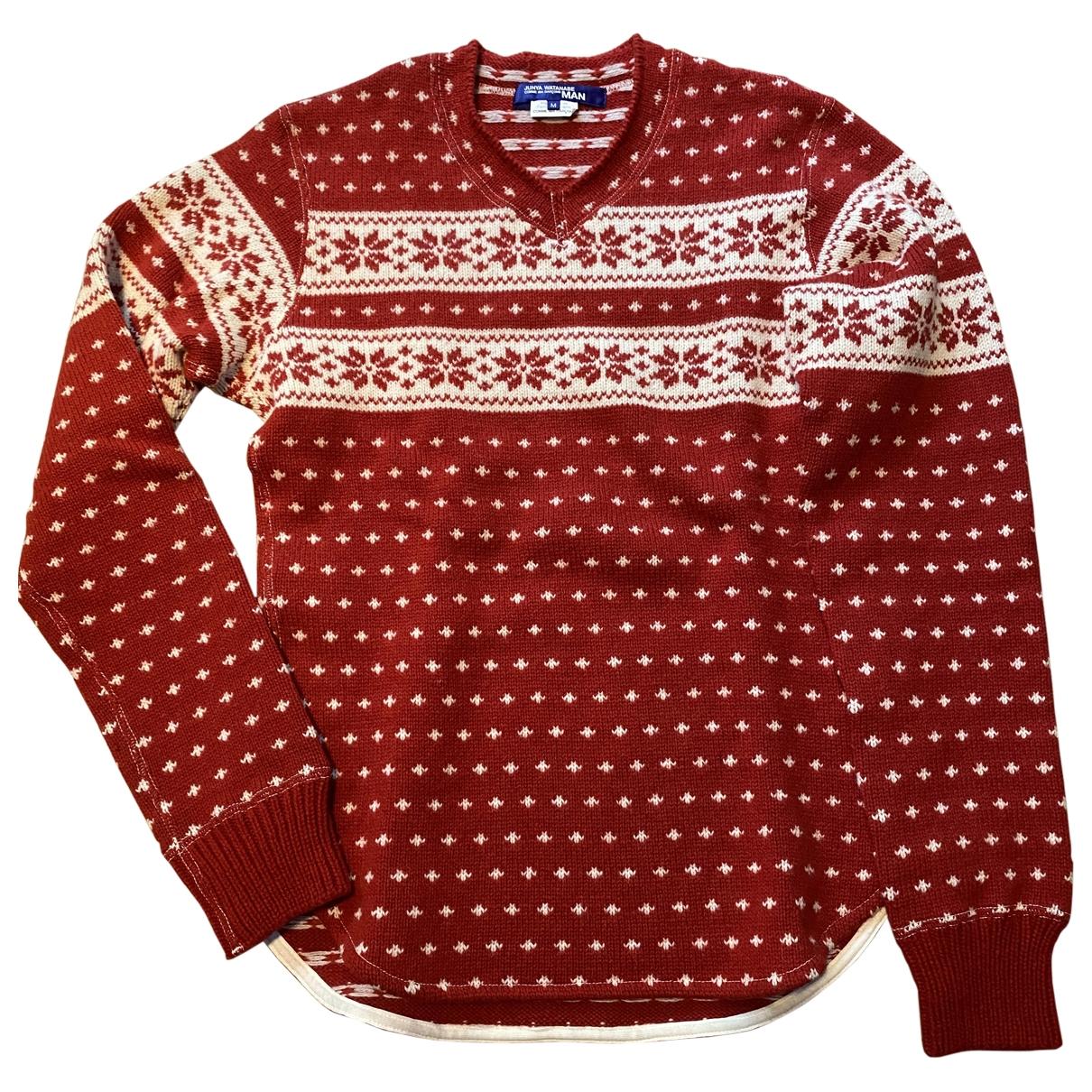 Junya Watanabe \N Pullover.Westen.Sweatshirts  in  Rot Wolle