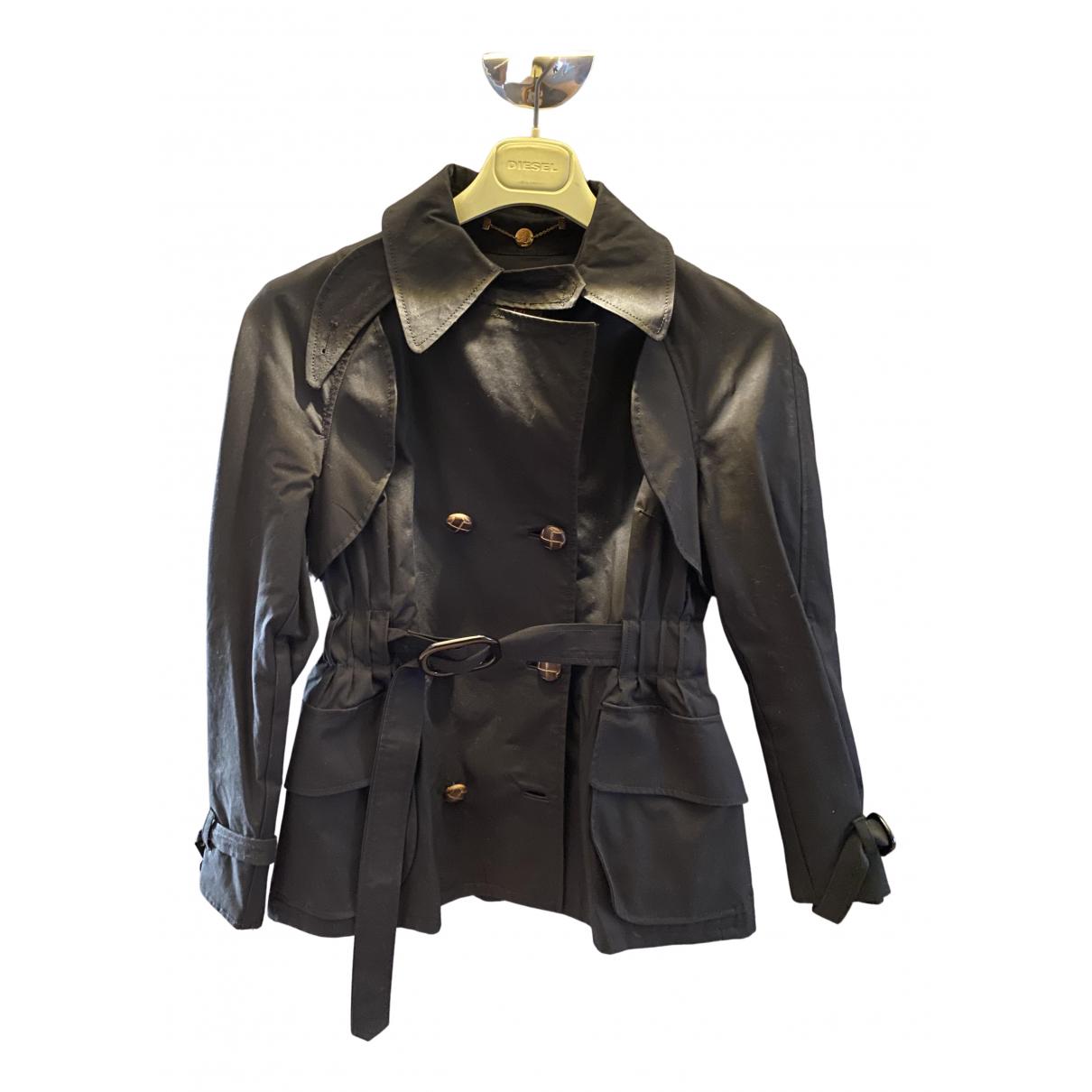 Bimba Y Lola N Black Cotton Trench coat for Women S International