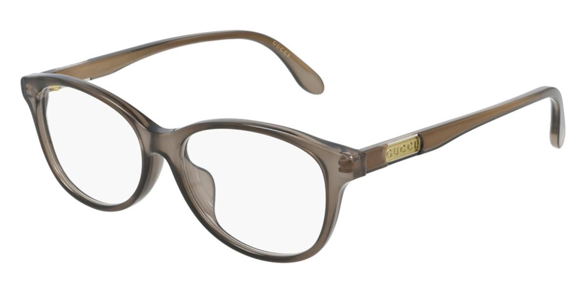 Gucci GG0795OK Asian Fit 002 Women's Glasses Brown Size 53 - Free Lenses - HSA/FSA Insurance - Blue Light Block Available
