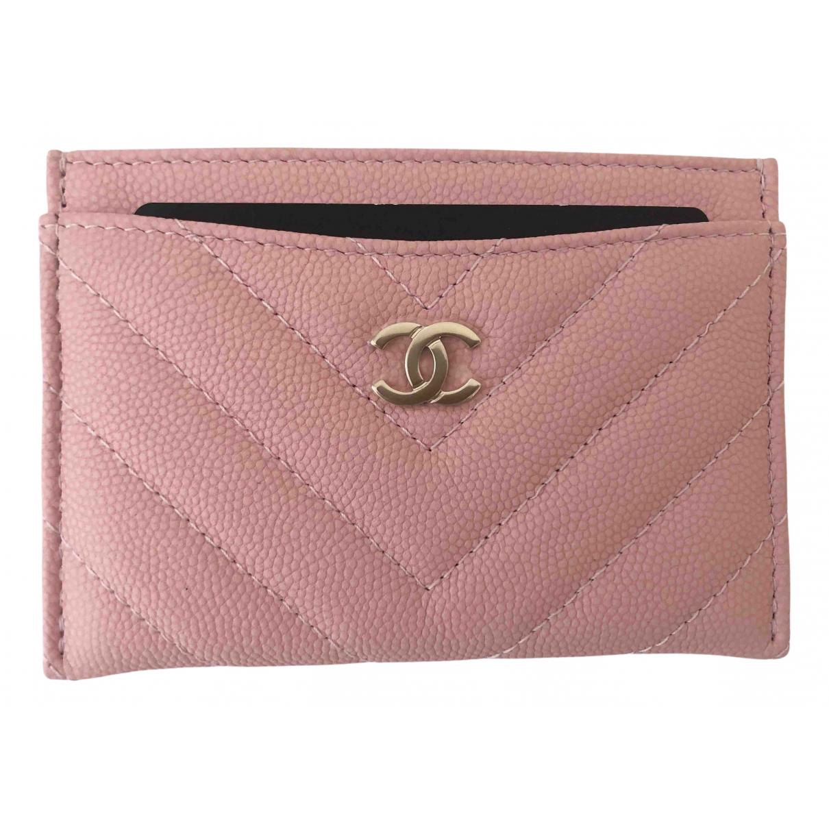 Chanel Timeless/Classique Kleinlederwaren in  Rosa Leder