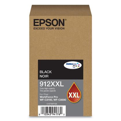 Epson 912XXL T912XXL120 Original Black Ink Cartridge Extra High Yield