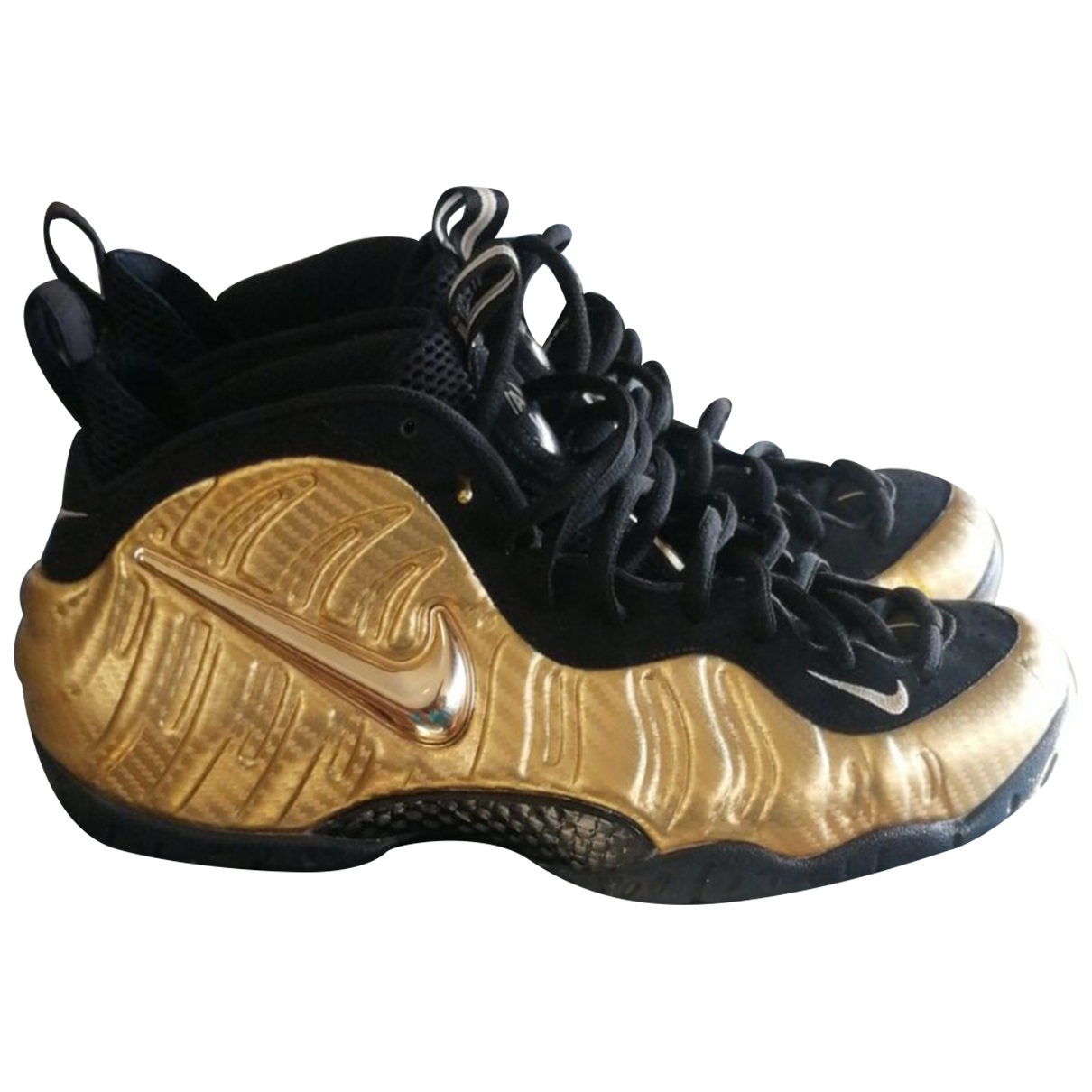 Nike Air Foamposite Gold Cloth Trainers for Men 46 EU