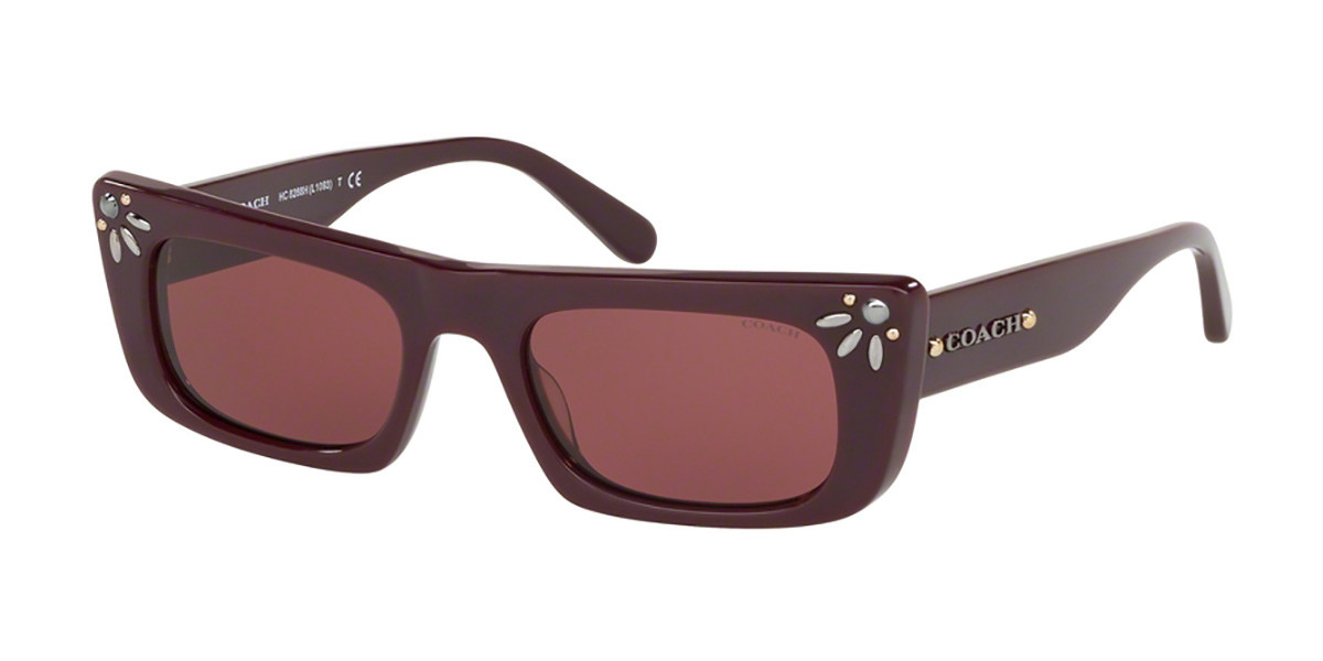 Coach HC8268H 547975 Women's Sunglasses Burgundy Size 50