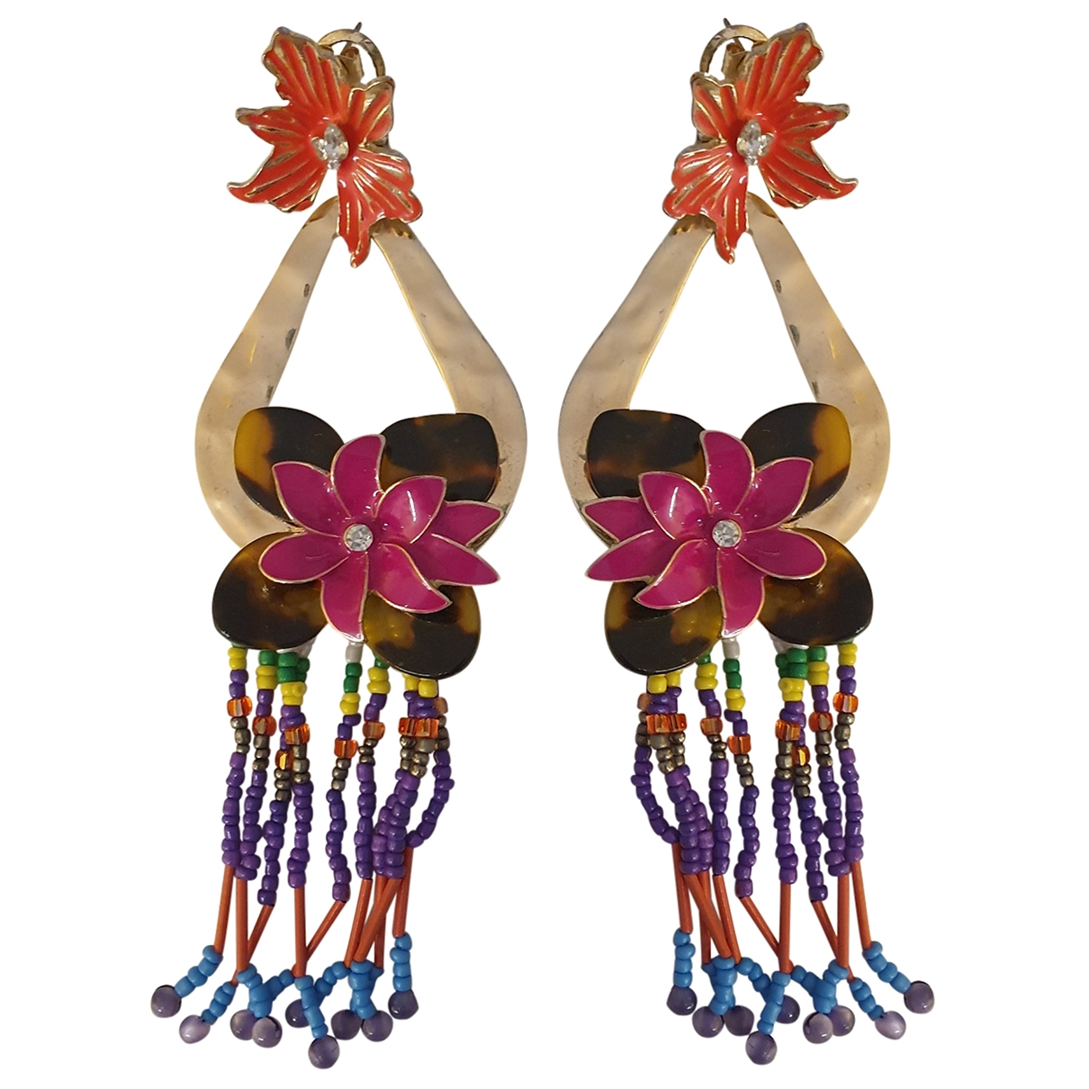 Zara \N Steel Earrings for Women \N