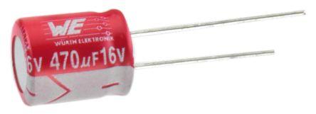 Wurth Elektronik 1200μF Polymer Capacitor 6.3V dc, Through Hole - 870135175007 (2)