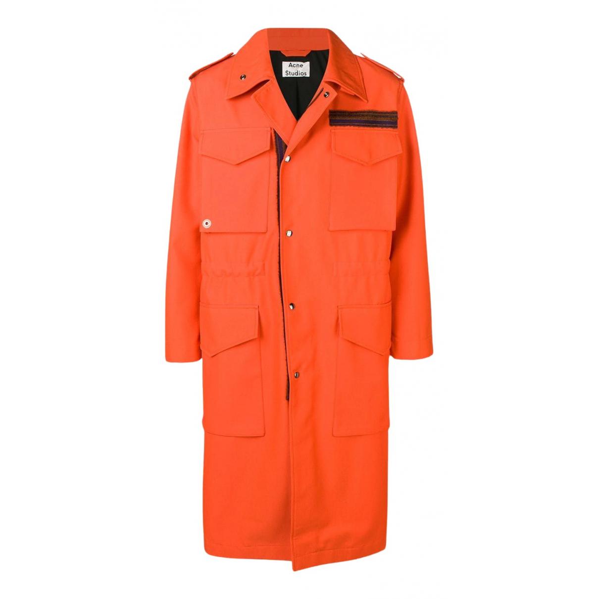Acne Studios - Manteau   pour homme en laine - orange