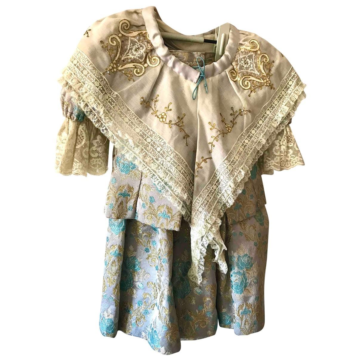 American Vintage - Robe    pour enfant en soie - gris