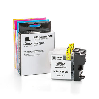 Compatible Brother MFC-5895CW Ink Cartridges Black/Cyan/Magenta/Yellow by Moustache, 4-Pack Combo - High Yield