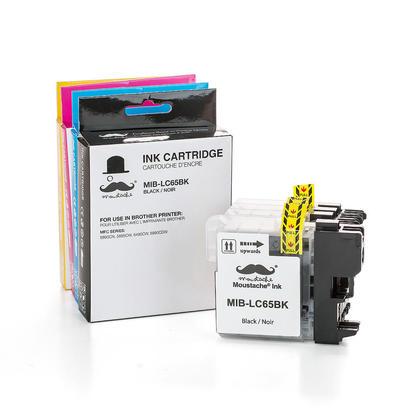 Compatible Brother MFC-5895CW cartouches encre noire/cyan/magenta/jaune de haut rendement, ensemble de 4 couleurs - Moustache marque