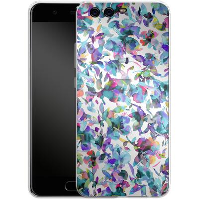 Huawei P10 Silikon Handyhuelle - Aquatic Flowers Blue von Ninola Design