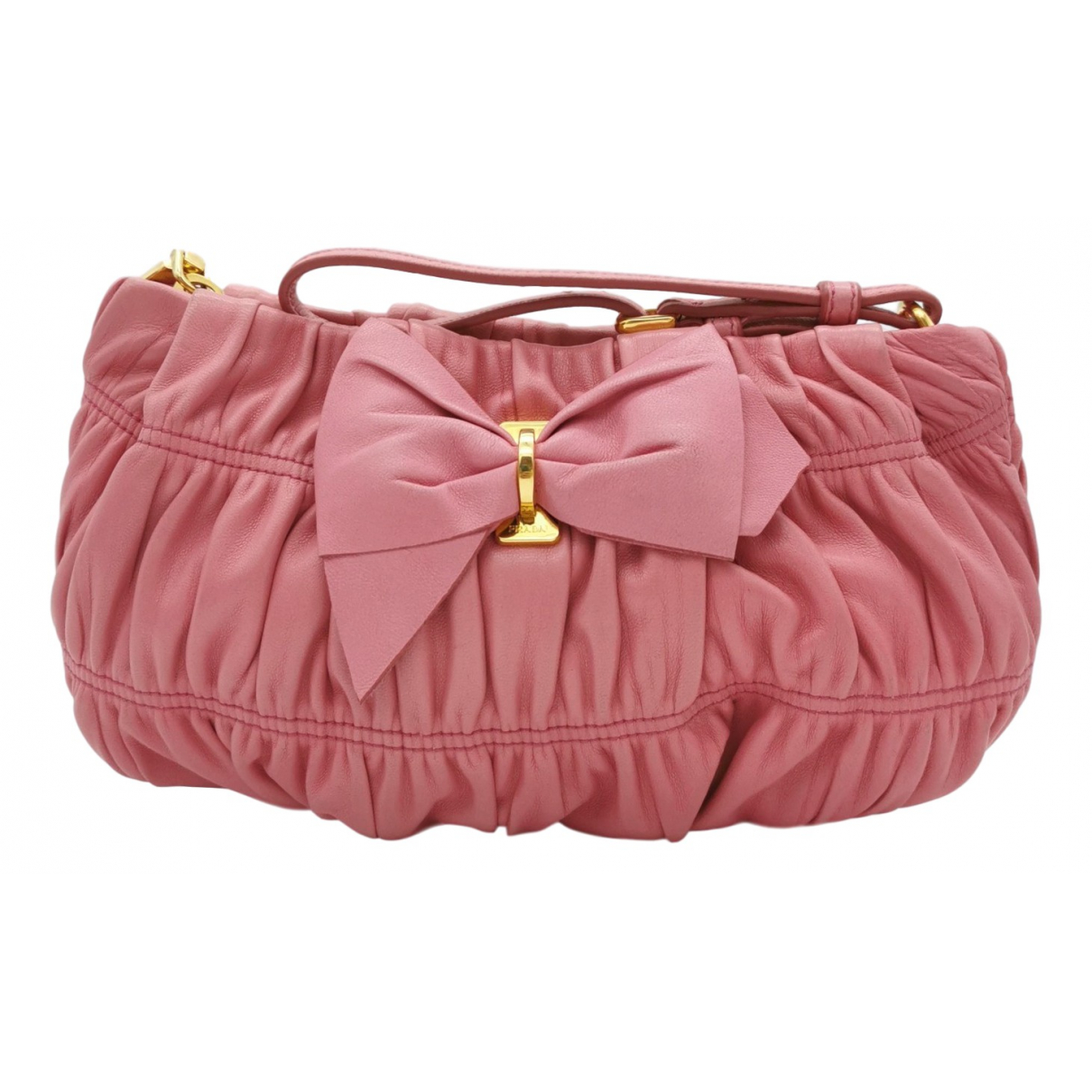 Prada N Pink Leather Clutch bag for Women N