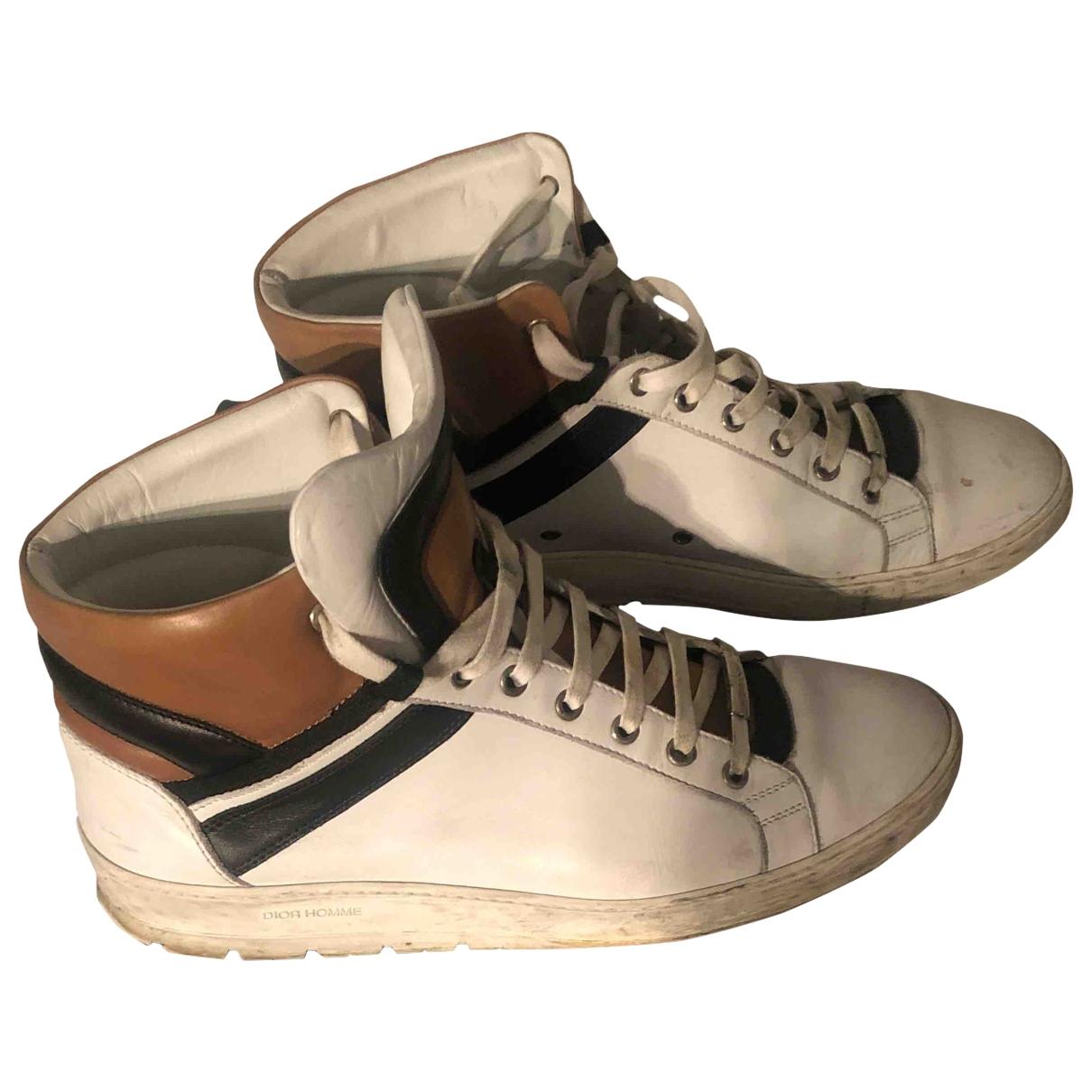 Dior Homme \N Sneakers in  Weiss Leder