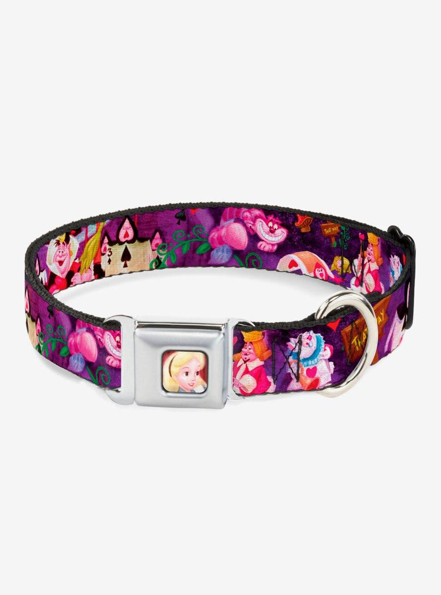 Disney Alice In Wonderland The Queen Of Hearts Scenes Seatbelt Buckle Dog Collar