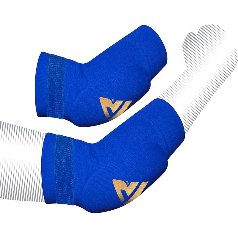 RDX HY Medium Blue Padded Compression Elbow Sleeve Shield Protector Guard for MMA Muay Thai Kickboxing Karate BJJ Training Workouts for Men and Women