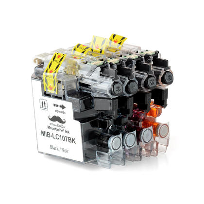 Compatible Brother MFC-J4510DW Ink Cartridges by Moustache, Black/Cyan/Magenta/Yellow 4-Pack Combo - Super High Yield