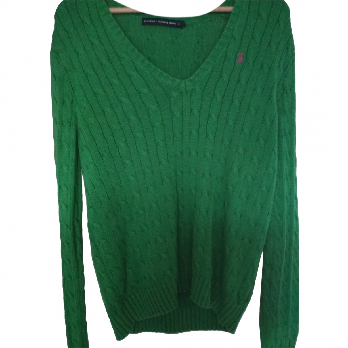 Polo Ralph Lauren \N Green Cotton Knitwear for Women XL International