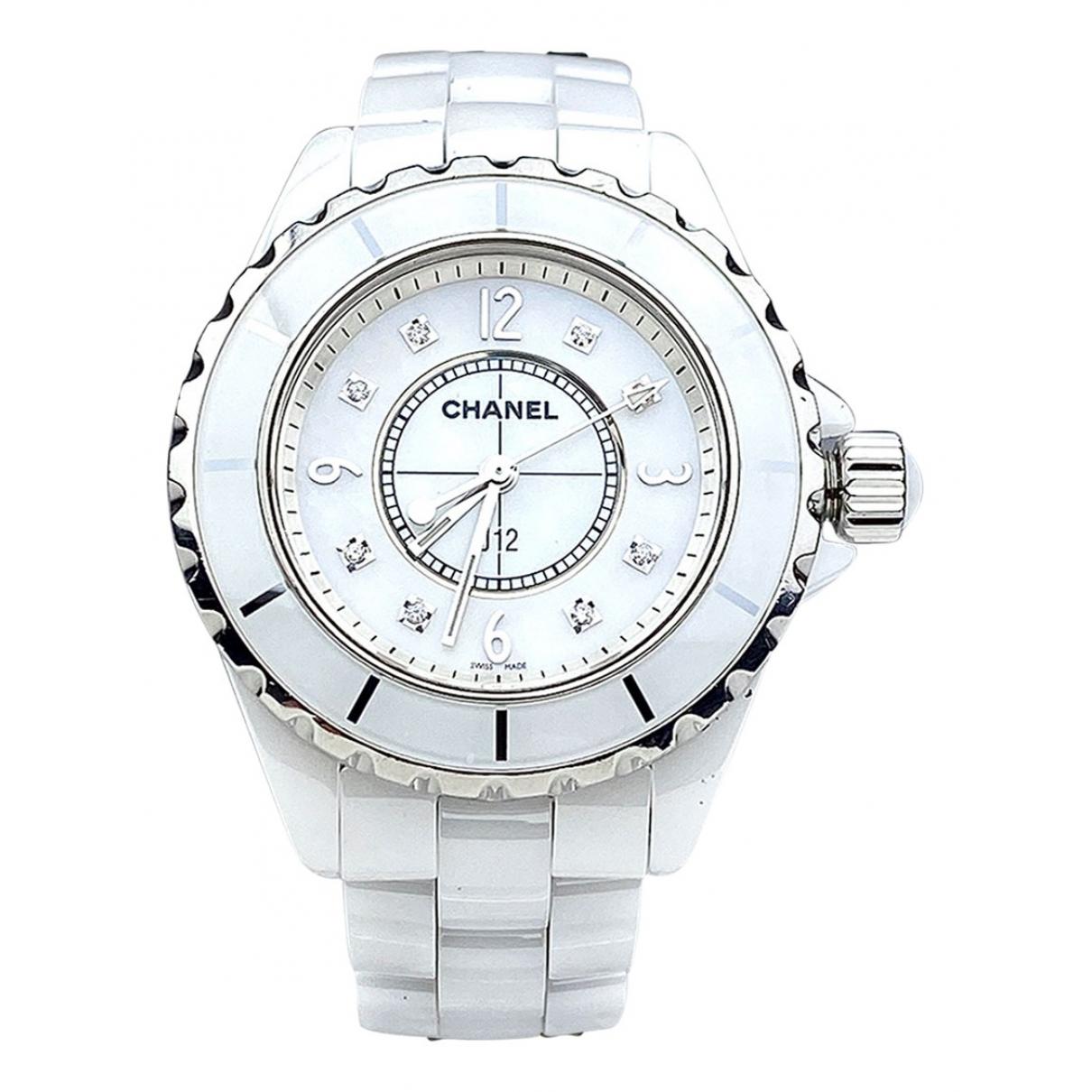 Chanel - Montre J12 Quartz pour femme en ceramique - blanc
