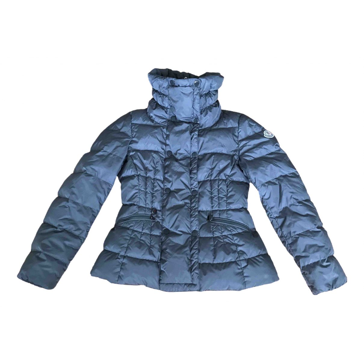 Moncler Classic Maentel in  Grau Polyester