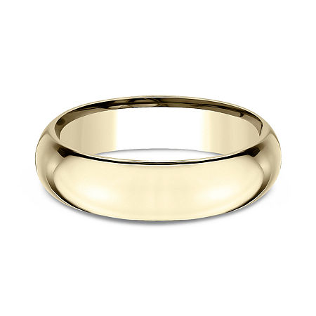 Mens 14K Yellow Gold 6MM High Dome Comfort-Fit Wedding Band, 8 , No Color Family