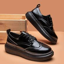 Wingtip Lace-up Front Skate Shoes